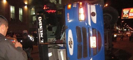 accidente de bus en sector del C.C. El Condado