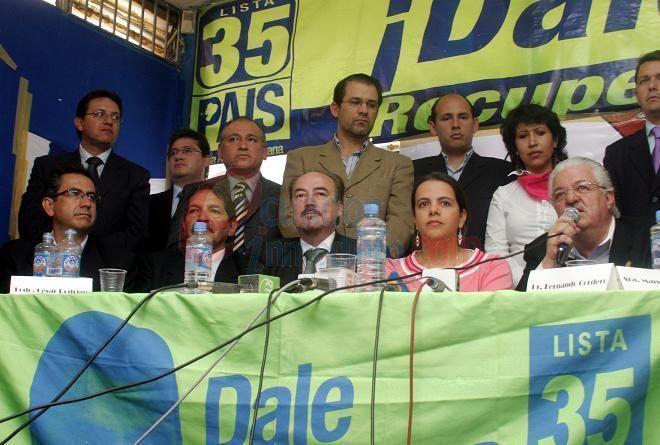 integrantes de Alianza PAIS