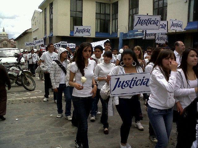 marcha por la seguridad en Cuenca