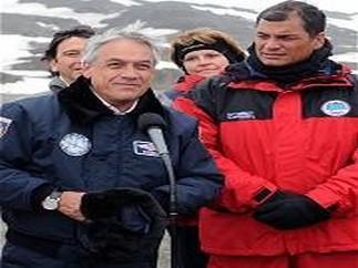 Rafael Correa en la Antartida