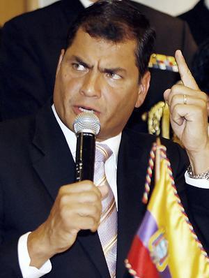 Rafael Correa criticó a Carlos Vera y a El Universo