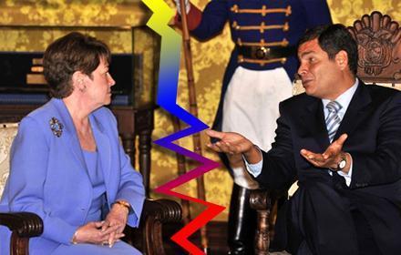 Ecuador expulsó a la embajadora de Estados Unidos