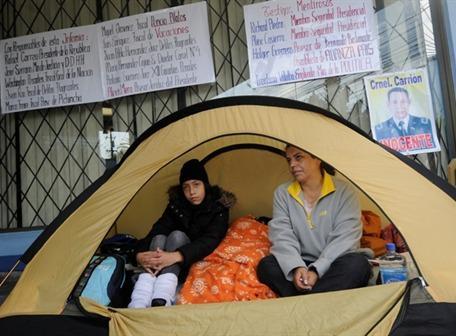 Esposa del coronel Carrió inició huelga de hambre