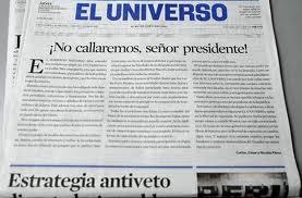 Diario El Universo es presionado por el Gobierno