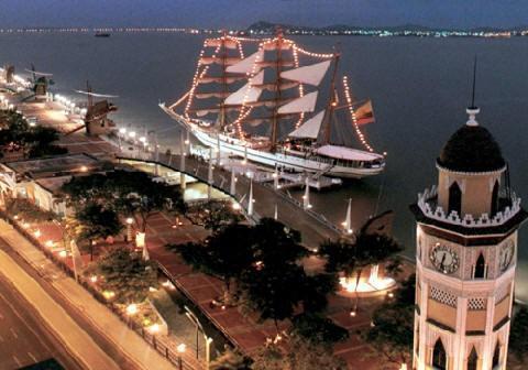 Vista aérea de la ciudad de Guayaquil