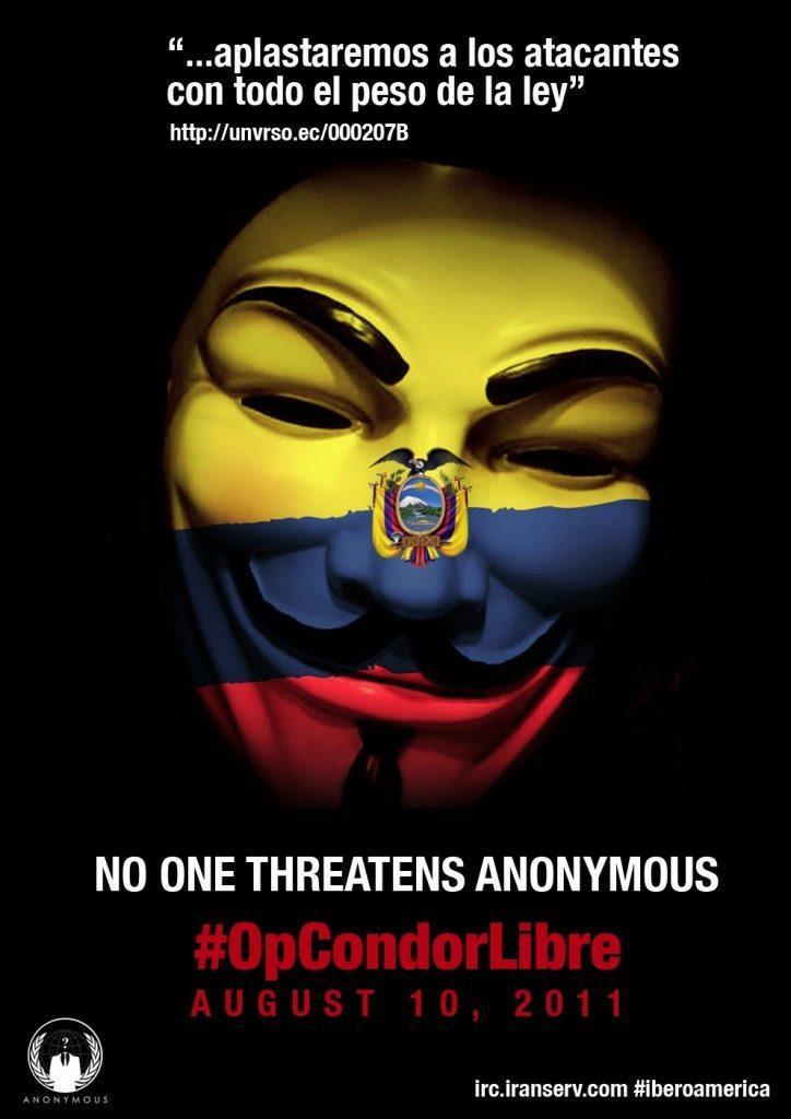Anonymous atacó página web de la Presidencia de Ecuador