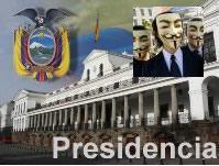Grupo Anonymous atacó página web de la Presidencia