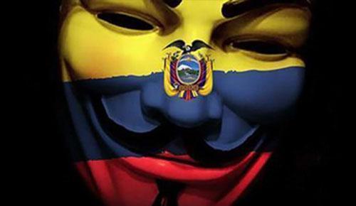 Anonymous ataca webs de Ecuador