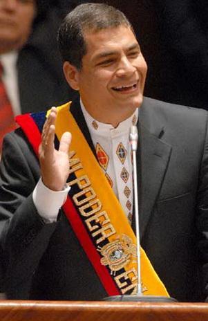 Rafael Correa candidato a la presidencia