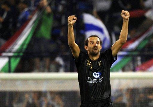 Hernán Barcos en Liga de Quito