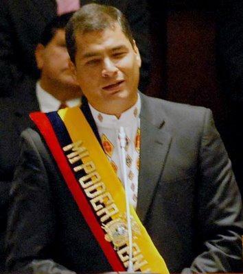 foto de Rafael Correa, expresidente de Ecuador