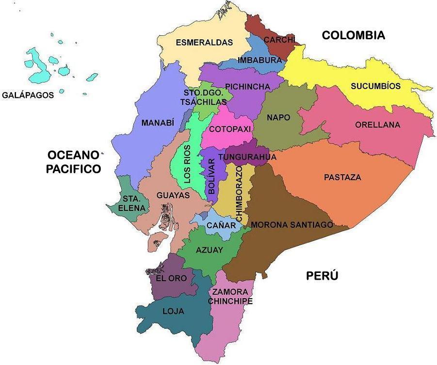 mapa ecuador politico