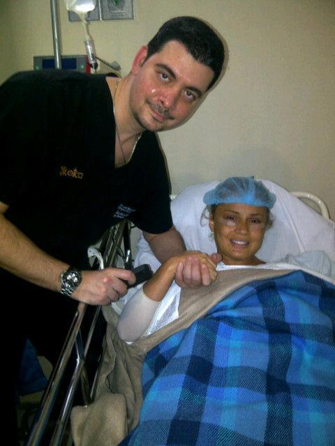 Gineth Moreno ingresó al quirófano