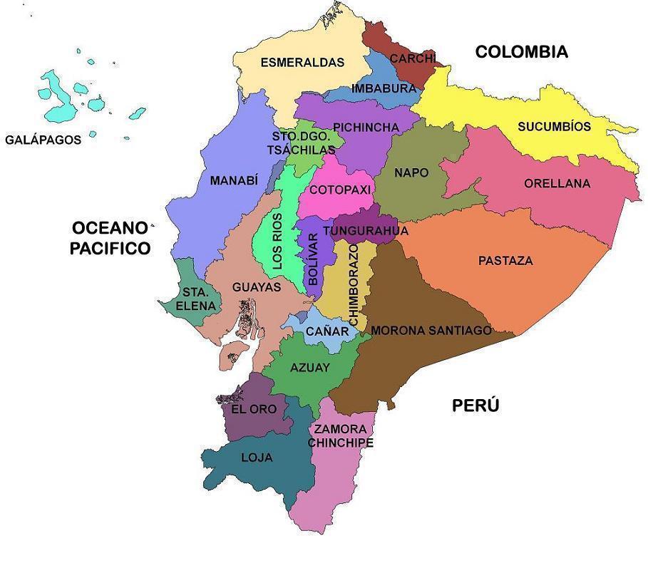 Mapa De Las Provincias De Ecuador Ecuador Noticias