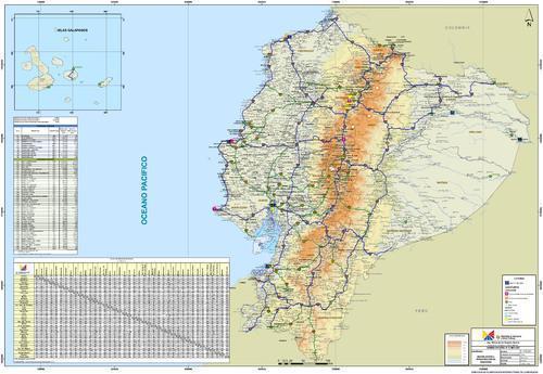 mapa ecuador carreteras