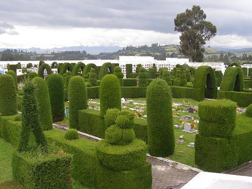 imagen aérea del cementerio de Tulcán