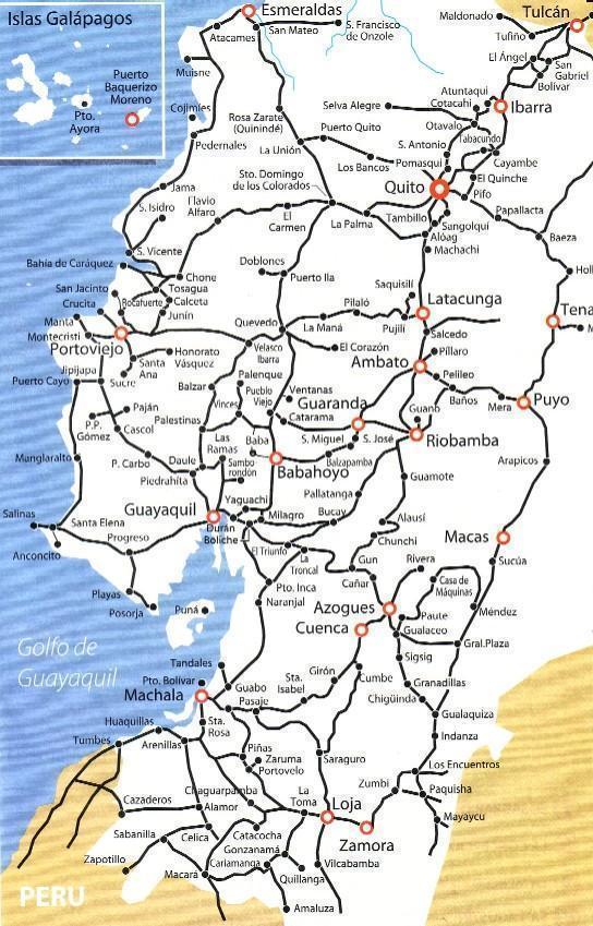 Mapa De Carreteras De Ecuador Ecuador Noticias