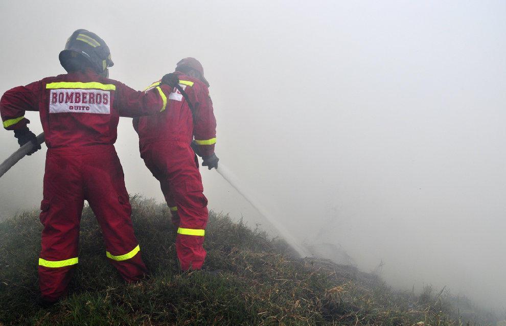 Un incendio se produjo en Puembo