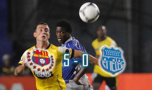 Barcelona goleó a Emelec