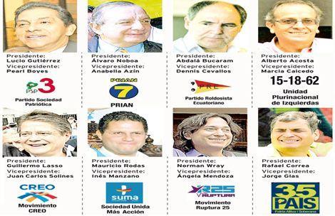 Candidatos a la presidencia de Ecuador 2013