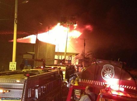 Incendio en Daule