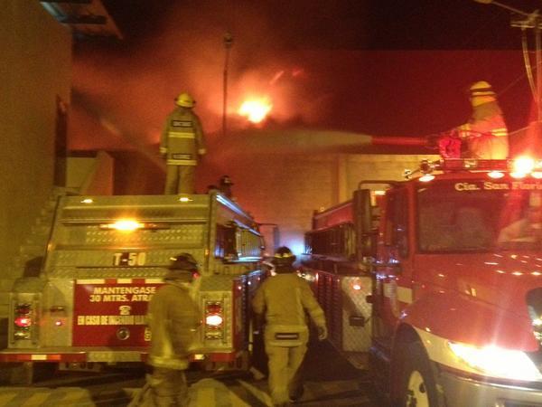 Incendio en bodega de Daule