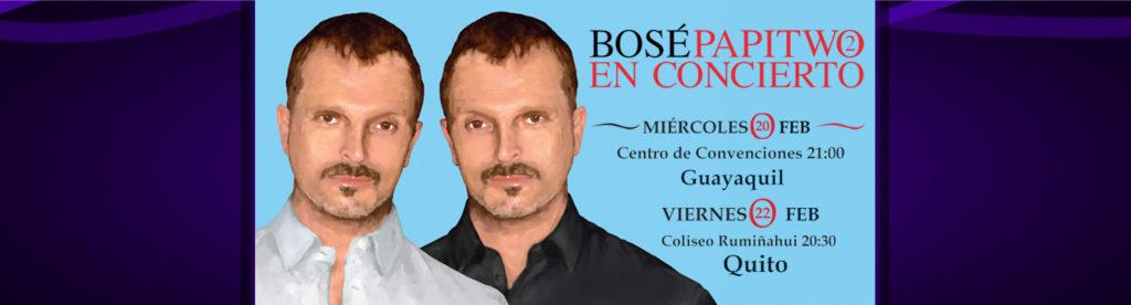 Concierto de Miguel Bose en Ecuador