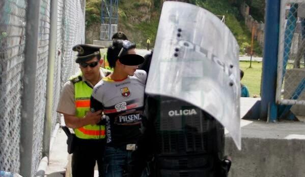 detenidos hincha de Barcelona