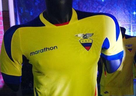 nuevo uniforme de la selección de Ecuador
