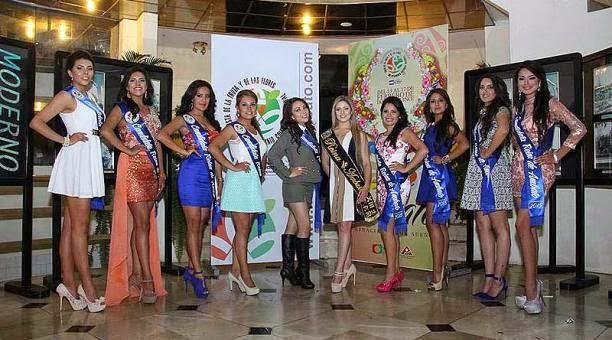 candidatas reina de ambato 2015