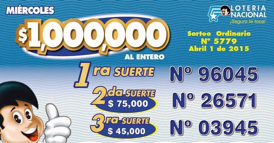 numeros ganadores ultimo sorteo loteria nacional