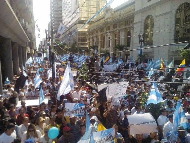 marchas protesta guayaquil