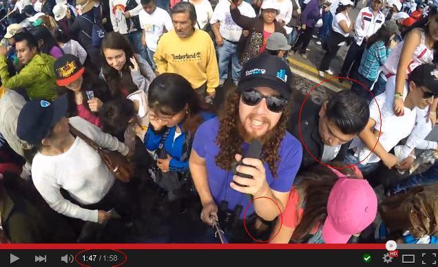 robo de celulares video en el parque bicentenario