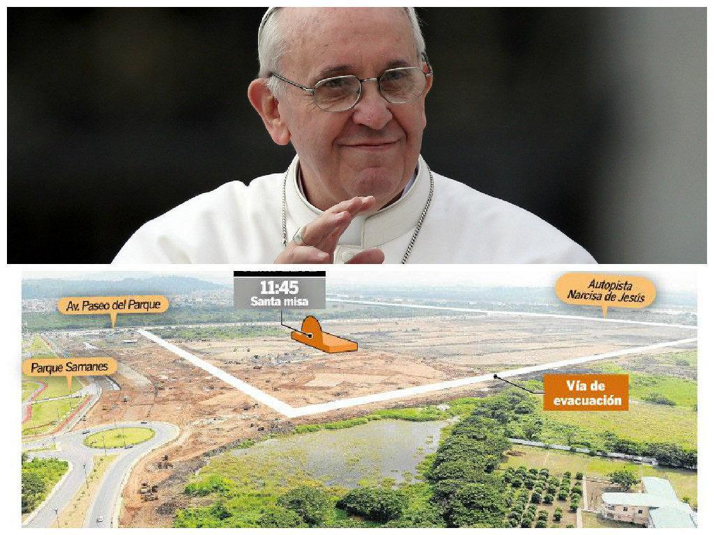 misa papa francisco parque samanes guayaquil