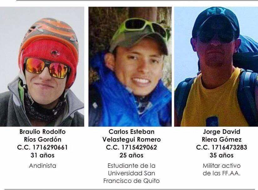 encontraron montañistos ecuatorianos perdidos peru