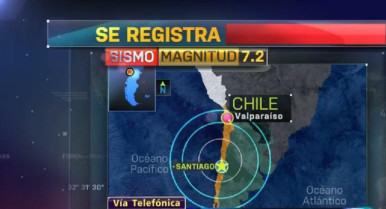 alerta de tsunami por terremoto en Chile