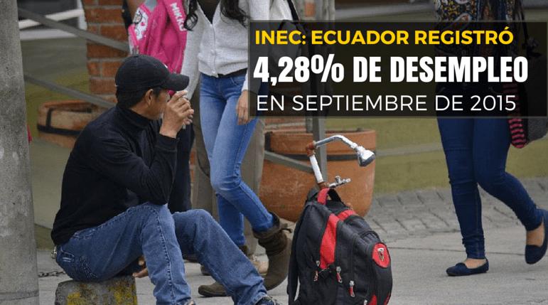 desempleo en ecuador aumenta