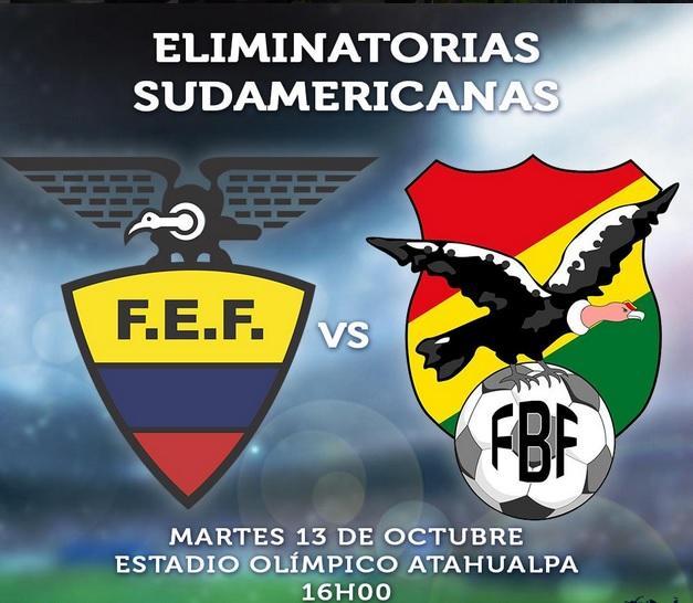 Partido Ecuador vs Bolivia