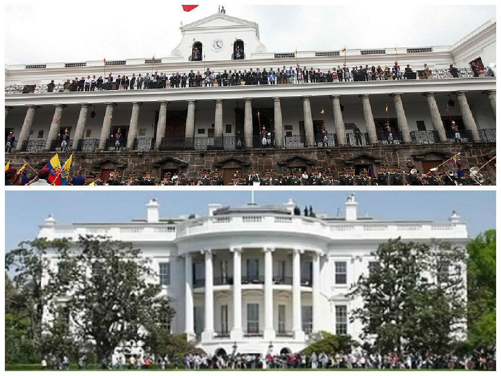 presidencia de Ecuador vs Casa Blanca Estados Unidos