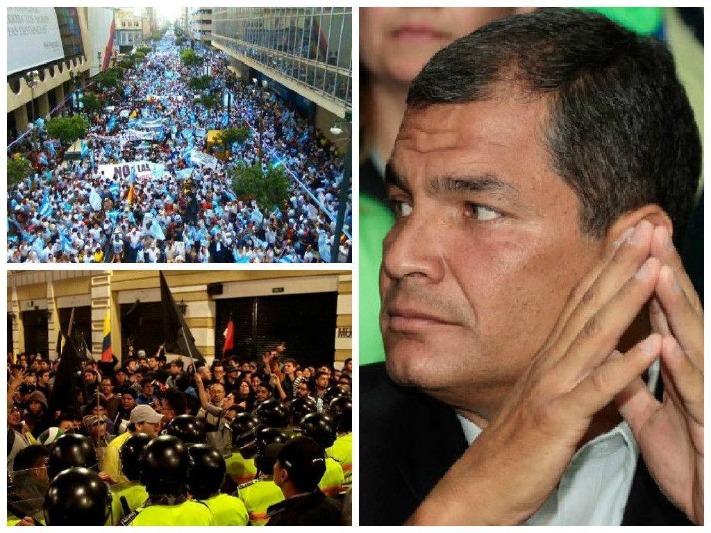Rafael Correa cae en las encuestas