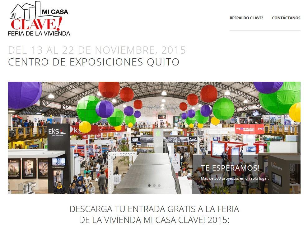 entradas gratis Feria de la Vivienda Mi Casa Clave 2015