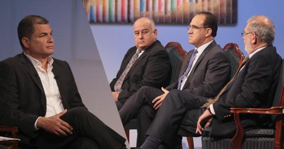 rafael correa debate economico