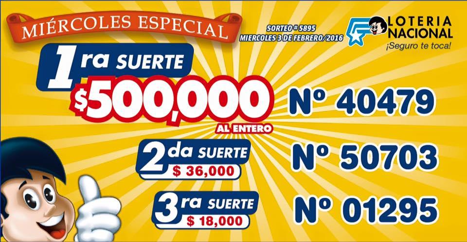 resultados loteria nacional sorteo 5895