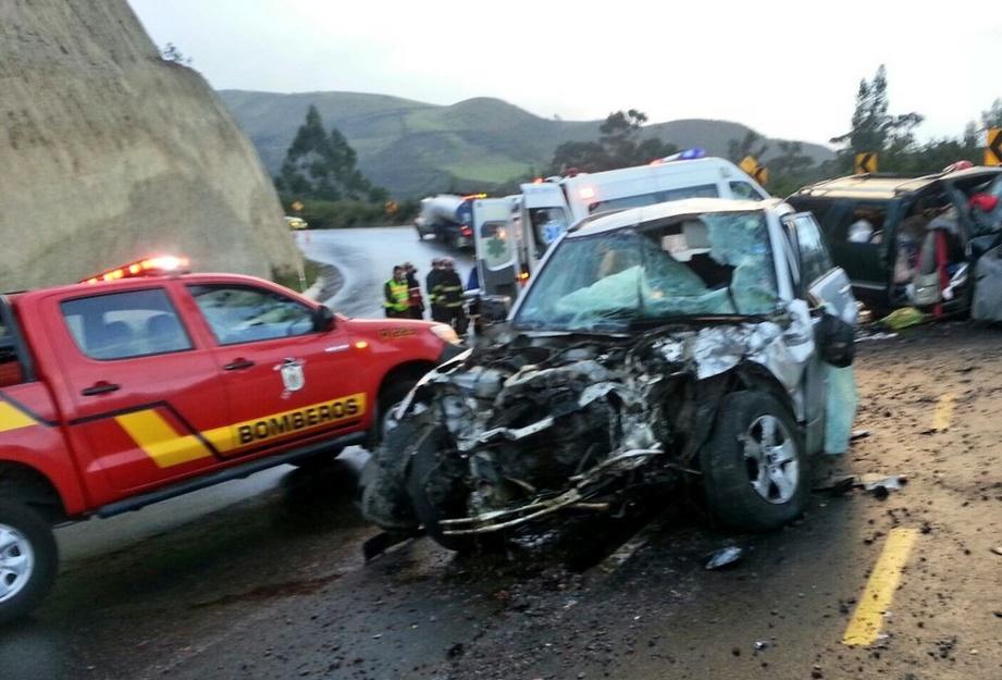 Accidente en la vía Papallacta