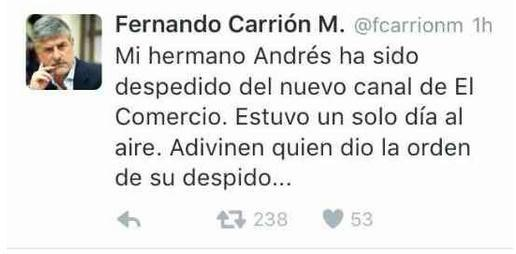 andres carrion despedido