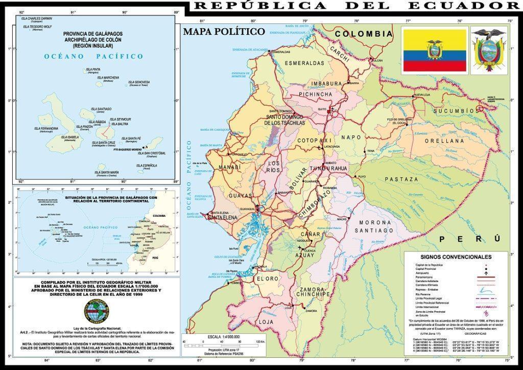 maps ecuador actually