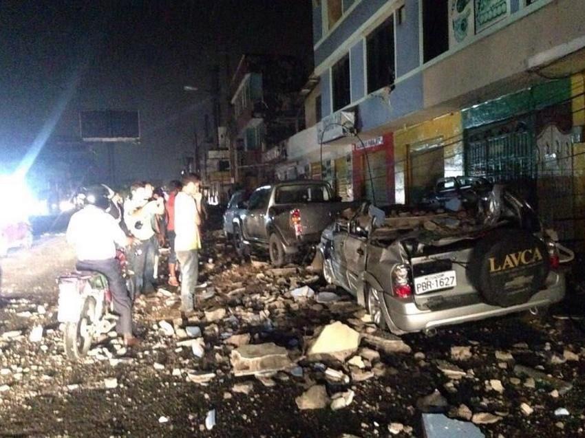 sismo de 7.5 grados en Ecuador