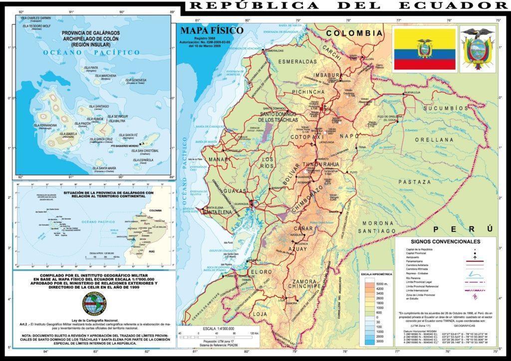mapa ecuador en hd