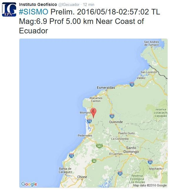 nuevos temblores ecuador