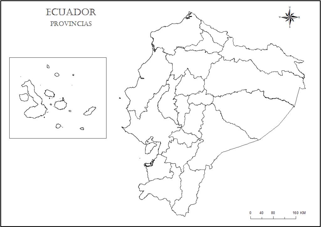 mapa ecuador para pintar